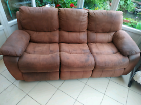 Suede Recliner sofa from harveys