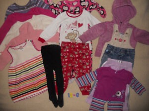 Group of Baby Girl clothes for $10 (ad 12-C)