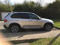 BMW X5, silver, 85000miles, pan roof, nav, warranty