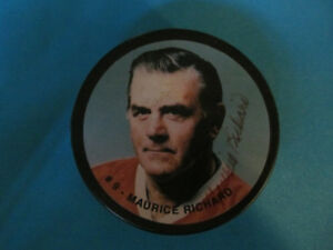 rondelle hockey canadiens montreal maurice richard signe