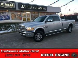 2016 Ram 3500 Laramie   DIESEL!  Bluetooth!  Heated Leather Seat