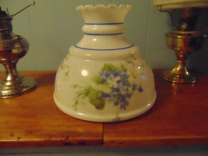 Milk Glass Lamp Shade(Hand Painted and Signed By Artist)
