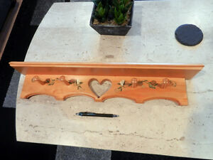 wood decorated coat rack new