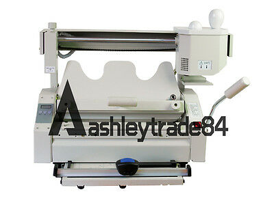 New Manual Numerical Control Hot Glue Book Binding Binder Machine 220v
