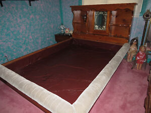 Queen Size Solid Pine High Book Case Water Bed
