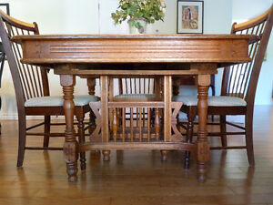 Antique  East Lake dining table. Kingston Kingston Area image 1