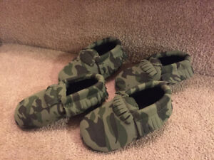 new camo moccasins booties