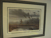 FRAMED WILDLIFE PAINTING by Richard Clifton