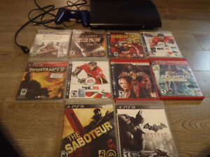 Ps3 Super Slim 250GB system and 11 Games