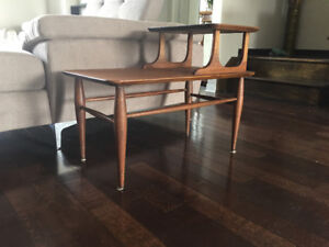 Gorgeous Mid Century Walnut End Table, Restored