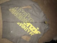 McKenzie size 8 Girls hoodie grey and yellow