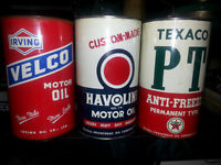 Three Nice Vintage Motor Oil Cans That are hard to come by...