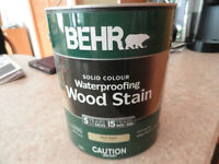 BEHR SOLID COLOR WOOD STAIN