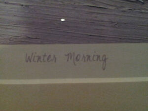 """Limited Edition """"Winter Morning"""" by Tom Thomson London Ontario image 3"""