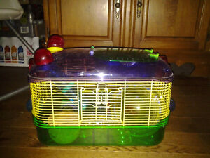 Hamster cage with extra attachments/tunnels and hamster ball