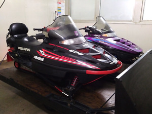 Polaris Touring Package Deal Two up Snowmobiles and Trailer