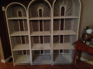 book case,rattan,3 sections.