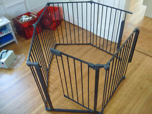 "gate with fence, 5 pieces 24"" each"