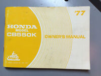 For Sale: Original Owners Manual for 1977 CB550