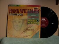 HANK WILLIAMS - RECORD LP- SONGBOOK SANG BY FREDDY MCKENNA AS711