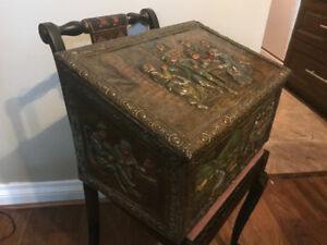 Victorian Coal Scuttle-Brass Embossed