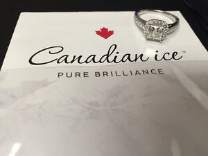 Canadian Ice 14KT WG Engagement Ring