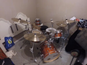 Beautiful drum set and extras for sale
