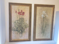 Canvas painting picture and frames