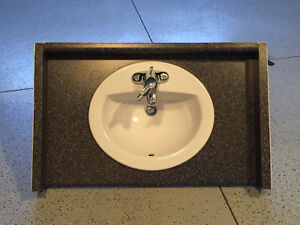 American Standard sink w/faucet and vanity counter top