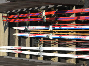 Cross Country Skis and Poles (3)