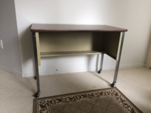 Metal Typing Desk and Chair
