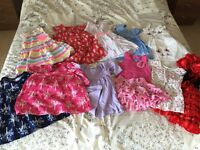 Baby girl 11 x dresses 9-12 months