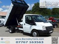 2013 63 FORD TRANSIT TIPPER T350 SINGLE CAB TIPPER ONE STOP NO VAT