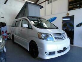 TOYOTA ALPHARD CAMPER VAN,MOTORHOME, 4 BERTH~POPTOP ROOF~REAR KITCHEN~DVD~NAV