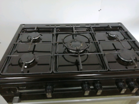 Range cooker with rotisserie