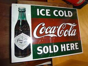 Coke Metal Sign