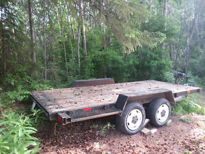 14' x 6' Flat Deck Trailer with winch