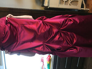 Burgundy Satin Gown