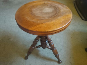 PIANO STOOL ANTIQUE ADJUSTABLE HEIGHT $100