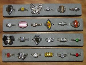 ATTENTION Flea Market Sellers.    98 costume jewelry rings