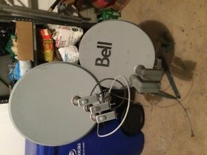 Bell HD Satelite Dish with \wave Frontier Satelite Dish