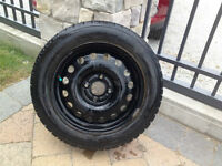 Four 15 inch BFGoodrich used Snows WITH RIMS for sale