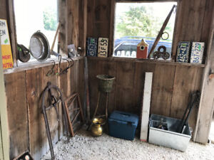 BARN SALE - ANTIQUES, COLLECTIBLES AND HORSE STUFF AND TACK