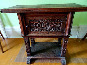 gothic 1700s Tudor FRENCH EMPIRE RENAISSANCE altar server table