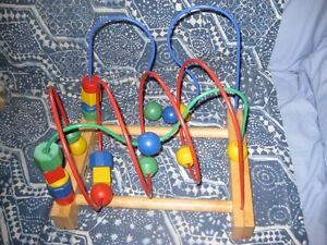wooden bead toy
