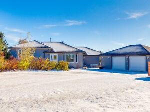 CHESTERMERE 6.7 ACRES FULLY DEVELOPED 4 BDRMS 4 BATHS