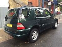 Mercedes ML 320 2001 4x4 Full leather seat. 12 Months mot