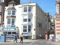 Cafe / x2 Self Catering Apartments / Manager-Owners Flat on Weymouth Beachfront x5 Floors