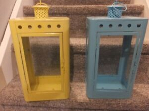 TWO DECORATOR LANTERNS