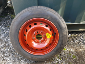 Fiat 13inch space saver wheel and tyre